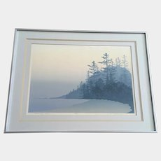 Ron Hoeksema Serigraph Morning Shore 24/38 Limited Edition Screen Print Signed by Colorado Listed Artist