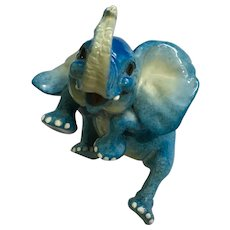 Blue Elephant Kitty Cantrell Whimsical Critters Scamp Figurine Discontinued