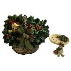 Boyds Bear and Friends Treasure Trinket Box #382138 God Bless Christmas