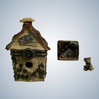 Boyds Bear and Friends Treasure Trinket Box #392107 Chester's Birdhouse with Audubon McNibble Tweet Dreams Retired 2000