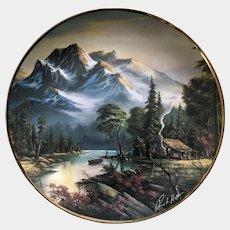 Franklin Mint Mountain Retreat Collectors Plate Robert Huff 24kt
