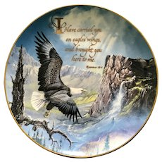 1992 Royal Doulton Collectors Plate England, Eagles The Franklin Mint Ted Blaylock