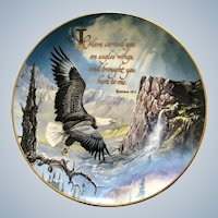 1992 Royal Doulton England, 'Carried on Eagles Wings' Fine Bone China The Franklin Mint Ted Blaylock Collectors Plate