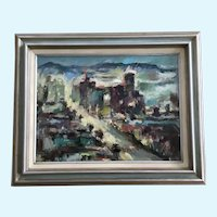 Betty Taylor, Las Vegas Cityscape Oil Painting Signed by Artist