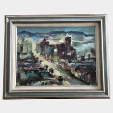 Betty Taylor Las Vegas Cityscape Oil Painting Signed by Artist