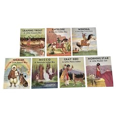 My Indian Library Children's Books, Platt & Munk Art By Roger Vernam 1935 Set of 7 Made in the U.S.A.
