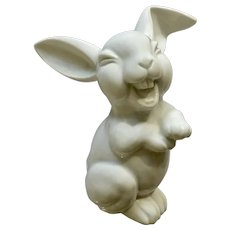 Silly Rosenthal Max Fritz's Laughing Bunny Rabbit Discontinued Germany Porcelain Figurine 6""