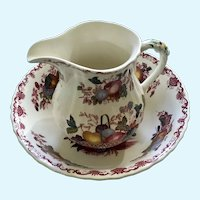 Mason's Fruit Basket Milk Pitcher & Round Vegetable Bowl Ironstone England Discontinued