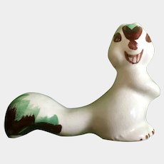 Mid-Century Rio Hondo White Squirrel California Pottery Figurine