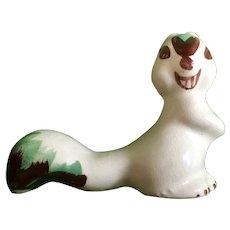 Mid-Century Rio Hondo White Squirrel California Pottery Figurine