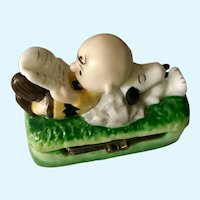 Snoopy & Charlie Brown, Vintage Hinged Trinket Box