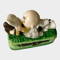 Snoopy & Charlie Brown, Vintage Hinged Trinket Box