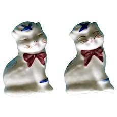 Vintage Shawnee Puss N' Boots Cats Salt And Pepper Shakers With Original Labels Figurines
