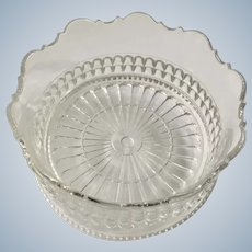 Vintage Clear Crystal Glass Wine or Champagne Bottle Coaster