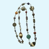 Multicolored Mixed Beaded Endless Loop Necklace