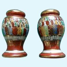 Vintage Japanese People Salt and Pepper Shakers Porcelain S&P Figurines
