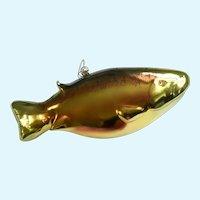 "Art Glass Rainbow Trout Fish 9"" Large Ornament"
