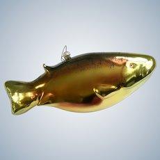 "Rainbow Trout Fish 9"" Large Ornament Art Glass"