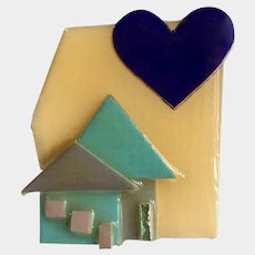 House Pin By Lucinda Vintage Hand Made Realtor Real Estate Agent Pin