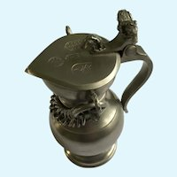 Small Pewter Covered Flagon for Wine or Eucharist JP Della Bianca Switzerland