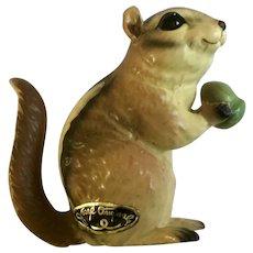 Vintage Josef Originals Chipmunk Squirrel with Acorn Nut Figurine Circa 1970's Japan