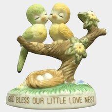Vintage Josef Originals George Good God Bless Our Little Love Nest Bird Figurine