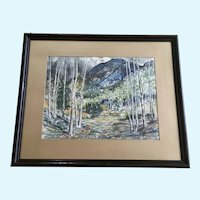 William Earl Musick, Watercolor Landscape Painting Signed by Listed Artist