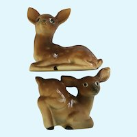 Deer Salt and Pepper Shakers Hand Painted Japan S&P Figurines