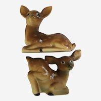 Deer Salt and Pepper Shakers Hand Painted Japan S&P Figurines