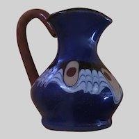 Vintage Bulgarian Troyan Pottery Miniature Pitcher or Creamer