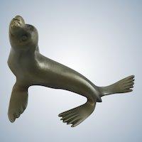 Hudson Pewter Harbor Seal Sea Life Mammal Figurine #613