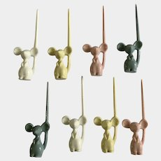 Mid-Century Mouse Cheese Pixies Hors D'oeuvres and Canapés Picks 8 Mice