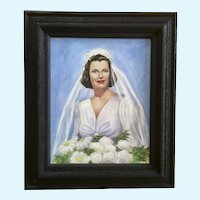 Beaupeurt, Bride Lady Woman 1939 Oil Painting Signed By Artist