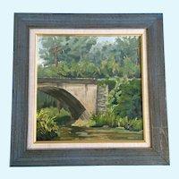 Mark Asmus, Gunpowder Falls at York Road, Maryland Bridge Oil Painting