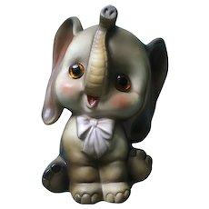 Josef Originals Elephant Nite Night Light Children's Room Ceramic Bisque Figurine Japan