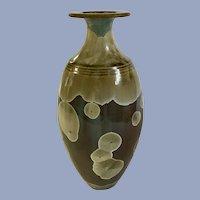 Robert Bennett Studio Art Pottery Vase Svelte with Crystalline Flowers Glaze 1970's Rare