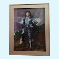 Blue Boy Oil Painting on Board After Thomas Gainsborough