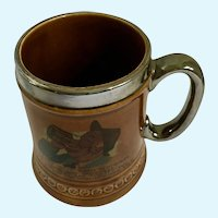 Beer Mug Lord Nelson Pottery England with English Satire Drinking Poem