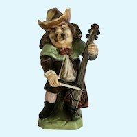 Rudolstadt Ernst Bohne Sohne Figurine Porcelain Man Playing a Lute Instrument Made in Germany