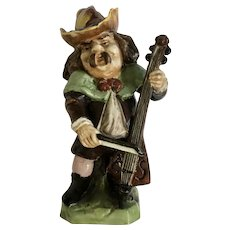 Rudolstadt Ernst Bohne Sohne Figurine Porcelain Man Playing a Lute Instrument Made in Germany