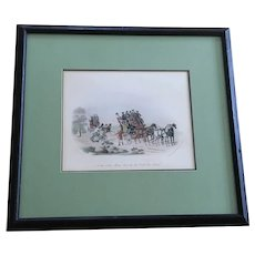 Newhouse, Charles B. (1805-1877) No Time To Lose Ma'am 1845 London Published Megs Fores Lithograph Print