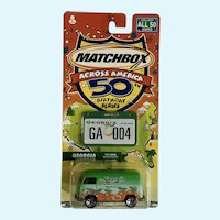 2001 Matchbox VW Volkswagen Georgia Die Cast Car 50th Birthday NIB Mattel