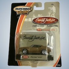 2002 Matchbox 1970 Pontiac GTO Die Cast Car Collectable Barrett-Jackson New in Box Mattel
