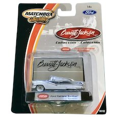 2002 Matchbox 1956 Ford Fairlane Sunliner Die Cast Car Collectable Barrett Jackson New in Box Mattel