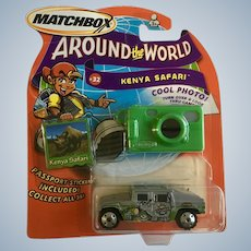 2003 Matchbox Kenya Safari Die Cast Car Around the World #32 Elephants New in Box Mattel