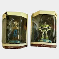 Disney's Tiny Kingdom Toy Story Buzz and Woody Miniature Figurines Retired New in Box