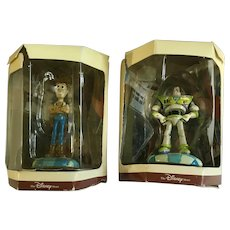 Disney's Tiny Kingdom Toy Story Buzz and Woody Miniature Figurines Retired New in Box