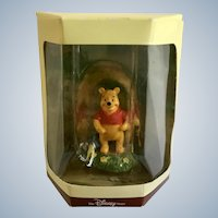 Disney's Tiny Kingdom Winnie the Pooh and the Honey Tree Pooh Bear Miniature Figurine Retired New in Box