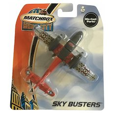 2003 Matchbox Rescue Plane Hero City Sky Busters Die-Cast Airplane Mattel