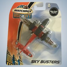 2003 Matchbox Rescue Plane Hero City Sky Busters Die-Cast Airplane New in Box Mattel